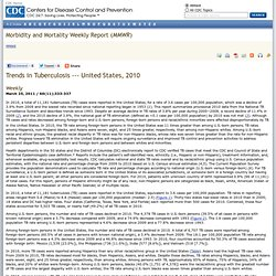 CDC 25/03/11 Trends in Tuberculosis — United States, 2010