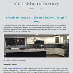 Trends to watch out for in Kitchen Design