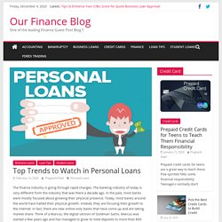 Top Trends to Watch in Personal Loans