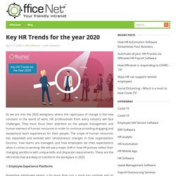 Key HR Trends for the year 2020
