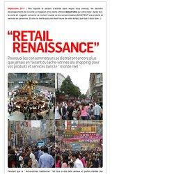 """septembre 2011: Trend Briefing """" RETAIL RENAISSANCE """" sur les dernières tendances de la vente au détail et du shopping pour les consommateurs"""