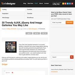 30 Trendy AJAX, jQuery And Image Galleries You May Like