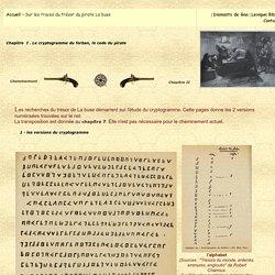 Un trésor Pirate dans l'Océan Indien, Le cryptogramme du forban, le code du pirate
