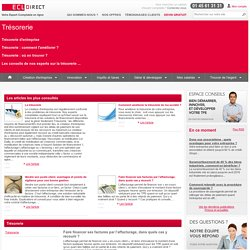 Articles : Trésorerie d'entreprise