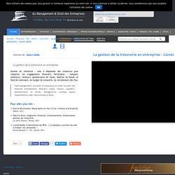 La gestion de la trésorerie en entreprise - Lionel Mailly TVDMA est la 1ère Web TV du Management et Droit des Entreprises