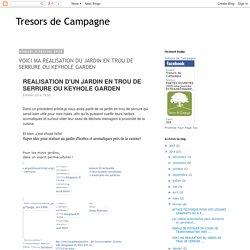 Tresors de Campagne: VOICI MA REALISATION DU JARDIN EN TROU DE SERRURE OU KEYHOLE GARDEN