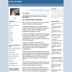 Tresors Templiers et Alpes Maritimes