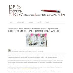 TALLERS MATES P4. PROGRESSIÓ ANUAL
