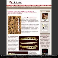 Outil pour tresser une corde à la préhistoire - Hominides