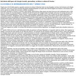TREVISO: BOMBARDAMENTO DEL 7 APRILE 1944, DAL DIARIO DELL'EPOCA DI GIORGIO GARATTI.