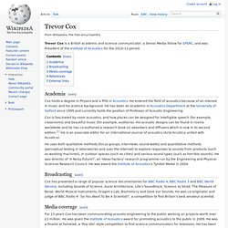 Trevor Cox