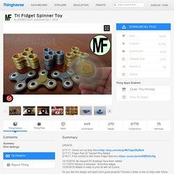 Tri Fidget Spinner Toy by 2ROBOTGUY