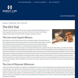 The DUI Trial, Nashville DUI Attorney