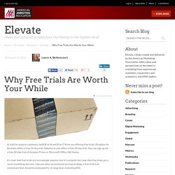 Why Free Trials Are Worth Your While