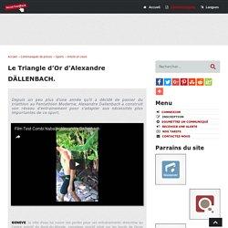 Le Triangle d'Or d'Alexandre DÄLLENBACH - Social-FeedBack.Net