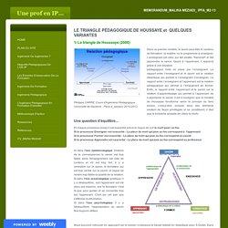 Le triangle pédagogique de Houssaye - Uneprofen IP...