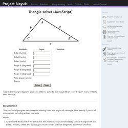 Triangle solver (JavaScript)