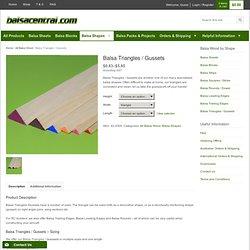 Balsa Triangles / Gussets - Online Balsa Wood Store - Balsacentral.com