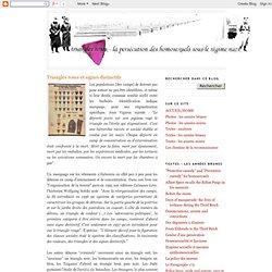 Triangles roses et signes distinctifs