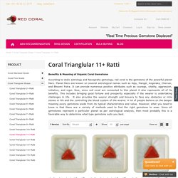 Triangular Shape 11 Ratti Red Coral Gemstone-