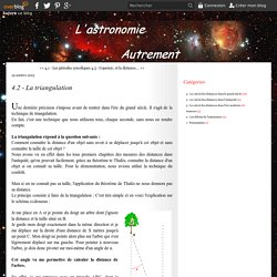4.2 - La triangulation - Le blog d'astronomie de Smartsmur