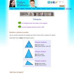 Triángulos - Equilátero, isósceles y escaleno