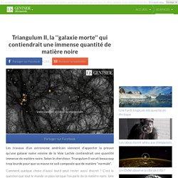 Triangulum II, la ''galaxie morte'' qui contiendrait une immense quantité de matière noire