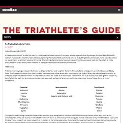 Triathletes Guide to Protein