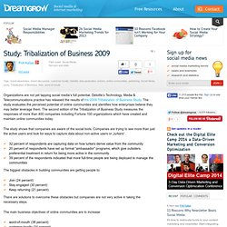 Digital » Blog Archive » Study: Tribalization of Business 2009