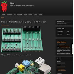 TriBorg - Triplicate your Raspberry Pi GPIO header