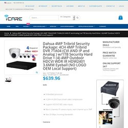 Dahua 4MP Tribrid Security Package