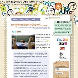 Les intelligences multiples en France dans l'enseignement ? (La Croix, LaMontagne mars 2015)