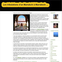 Les tribulations d'un Marrakchi à Marrakech