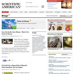 Solar at Home: Scientific American Blogs