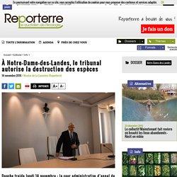 À Notre-Dame-des-Landes, le tribunal autorise la destruction des espèces