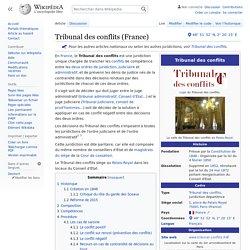 Tribunal des conflits (France)