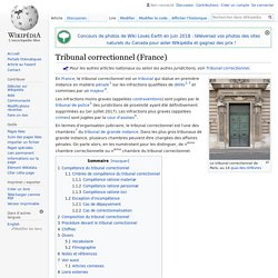 Tribunal correctionnel (France)