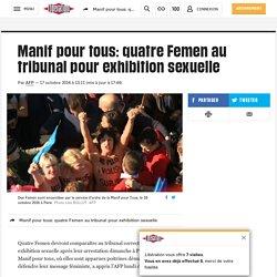 Manif pour tous: quatre Femen au tribunal pour exhibition sexuelle