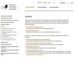 JURIVOC- Droit (Suisse)