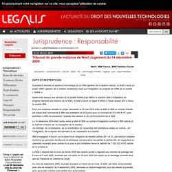 Tribunal de grande instance de Niort Jugement du 14 décembre 2009