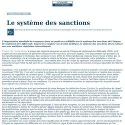 Le système des sanctions