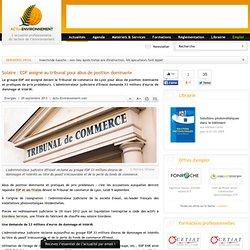 Solaire : EDF assigné au tribunal pour abus de position dominante