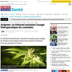 Avignon : le tribunal a autorisé l'usage thérapeutique du cannabis