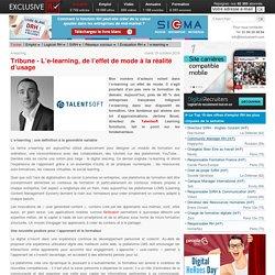 Tribune : l'e-learning, de l'effet de mode à la réalité d'usage