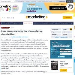 Les 4 canaux marketing que chaque start-up devrait utiliser!