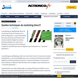 Quelles techniques de marketing direct?