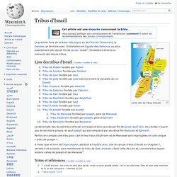 Mythologie Juive douze clans