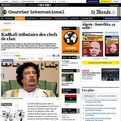Kadhafi tributaire des chefs de clan