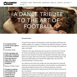 Jo Strømgren KOMPANI - A dance tribute to the art of football - 1997