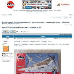 View topic - Airfix 1/72 Supermarine Spitfire MkIa (A01071A) in-box